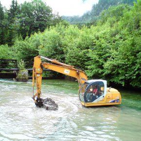 baggerarbeiten fluß wasserbau erdbau