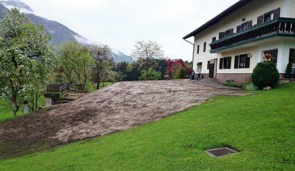 Nach Abriß Gelände wieder hergestellt